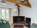 Wood buring stove will be laid ready fior you to light on arrival should you wish for the cosy glow