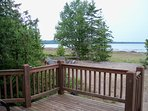 View from large deck overlooking North Bay