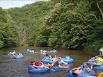 River tubing in the Great Smoky Mountains