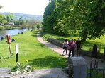 Llanrwst Park to the Right.