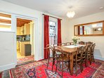 easy access from kitchen to dining plenty of zones for all to spread out away from each other