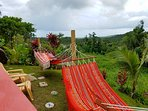 Newly added hammocks (post-hurricane) for your comfort. Views to ocean, mountains, and valley!