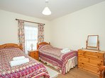 First floor twin ask for  6 ft zip and link  for full week stays