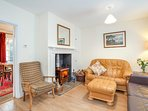 Lovely log burner for the chillier evenings. Underfloor heating very popular with children and pets.