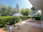 Outdoor dining in your own private garden