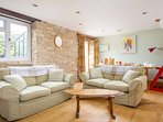 Comfortable seating and lovely Cotswolds character