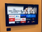 Netflix and Prime TV free access: hundreds of multilingual movies and contents.