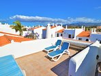 Large extra roof terrace with 360' views over sea and volcano