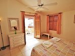 Bedroom opens direct to balcony