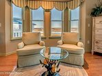 Chairs swivel 360, look out at the view or just relax