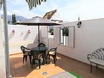 Large spacious sunny terrace with lovely views