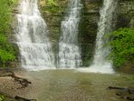 Twin Falls at Kyles Landing, 8 miles from Cabin