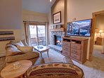 Unwind with the gas fireplace