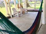 Downstairs hammock available