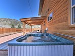You'll love soothing your legs in the hot tub!