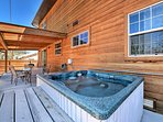 Relax in the hot tub after a day out on the Front Range!