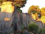Sunrise over the rocks