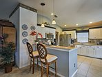 A breakfast bar for 2 - perfect to accompany the chef in the kitchen!