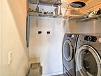 You'll always have fresh attire for adventuring with the full washer and dryers!