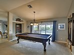 This new pool table is the perfect place to let your competitive side shine.