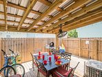This is the largest private cover wood patio in the neighborhood