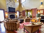 living room #fireplace