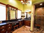 master bedroom bathroom with step in shower #luxury