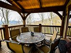 take in the views with lunch out on the porch #luxury