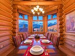 Take in the stellar views of the San Juan mountains from the dining area that seats up to 10 guests.