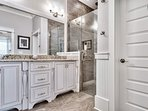 The Master ensuite has a spacious walk-in shower and dual vanity.