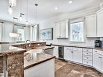 Two spacious countertops offer plenty of space for your group's gourmands to prepare meals.