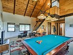 Play a game of pool or darts in the large game room.