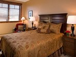 Get a good night's sleep in the comfortable queen bed