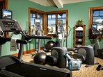 Keep up your fitness regime in the on-site gym.