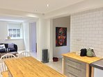 Basement - Kitchen / Living Area / Fireplace