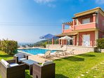 Beautiful villa with private pool, terrace, and sea views