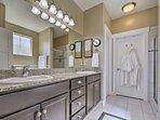 The master bathroom is breathtakingly beautiful.