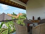 There is an upstairs terrace. Perfect for sundowners or just to view rice paddies and rooftops.