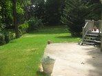 Town Harbor Lane Beach Cottage Rental -Big Back Yard