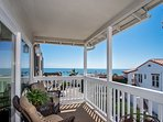 Read, relax, and breathe in the ocean air on this comfortable deck.