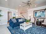 You'll be right at home at this vacation rental, just one block to the beach!