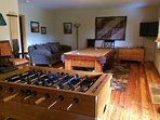 Den with Pool Table and Foosball