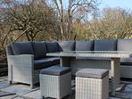 Luxury seating for dining or relaxing outside on the patio