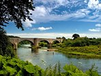 Norham Bridge over the Tweed (lots of beautiful walks from the door of the...