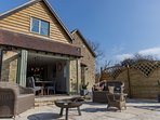 Hollowcombe Cottage, Patio and fire-pit