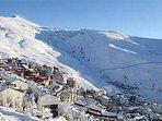 Deporte, esquí,nieve,descanso, excursión,senderismo,ríos,pantanos, gastronomía,telesilla, restaurant