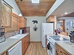 Head into the adjacent fully equipped kitchen to make all of your meals.