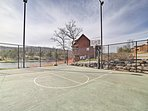 Shoot some hoops on the basketball goal!