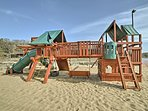 Your kids will enjoy the playgrounds.