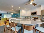 Kitchen- recently renovated and large island for additional seating